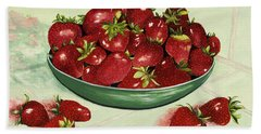Strawberry Memories Hand Towel