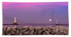 Strawberry Moon Bath Towel by James Meyer
