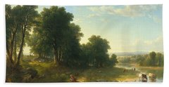 Strawberrying Hand Towel by Asher Brown Durand