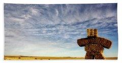 Strawman On The Prairies Hand Towel