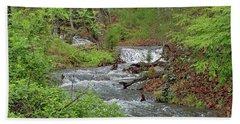 Stream In The Woods Bath Towel