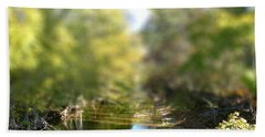 Bath Towel featuring the photograph Stream Reflections by EricaMaxine  Price
