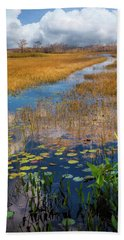 Hand Towel featuring the photograph Stream Through The Everglades by Debra and Dave Vanderlaan