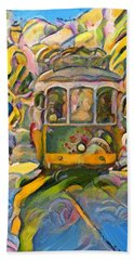 Street Car Lisbon Bath Towel