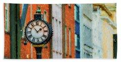 Street Clock In Cork Bath Towel