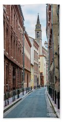 Bath Towel featuring the photograph Street In Toulouse by Elena Elisseeva