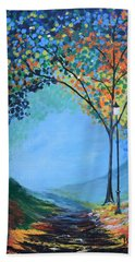Street Lamp Bath Towel by Gary Smith