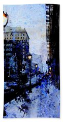 Street Lamps Sidewalk Abstract Hand Towel