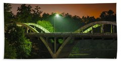Street Light On Rogue River Bridge Hand Towel