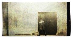 Street Photography - Closed Door Bath Sheet by Siegfried Ferlin