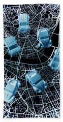 Street Racers Gps Bath Towel