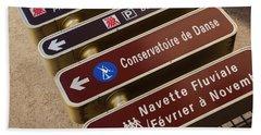 Street Sign In Avignon Hand Towel