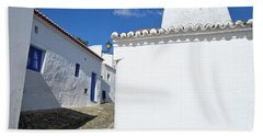 Streets Of A Medieval Castle. Alentejo Bath Towel