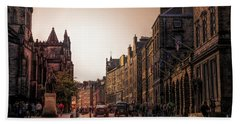 Streets Of Edinburgh Scotland  Bath Towel