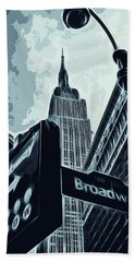 Streets Of New York - Broadway View Hand Towel