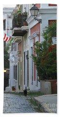 Streets Of Old San Juan Hand Towel