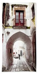 Streets Of Ostuni Bath Towel