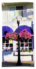 Streetside Balcony Bath Towel by Desiree Paquette