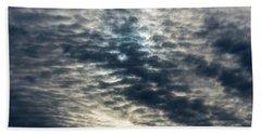 Striated Clouds Bath Towel