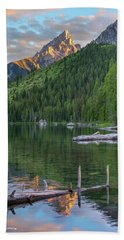 String Lake Hand Towel by Tim Fitzharris