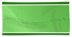 String Of Birds In Green Hand Towel