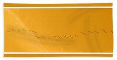 String Of Birds In Orange Bath Towel