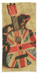 Stringed In Great Britain Hand Towel