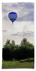 Hand Towel featuring the photograph Striped Balloon by Angela Murdock