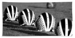 Striped Helmets With Football Bath Towel