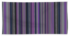Stripes In Grayed Lavender Hand Towel