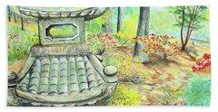 Strolling Through The Japanese Garden Hand Towel