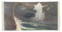 Strong Against The Storm Bath Towel by Thomas Janos