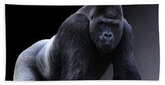 Strong Male Gorilla Bath Towel