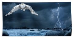 Stronger Than The Storm Bath Towel by Heather King