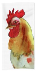 Hand Towel featuring the painting Strut Your Stuff 4 by Kathy Braud