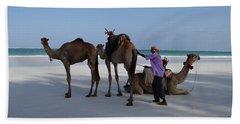 Stubborn Wedding Camels Hand Towel