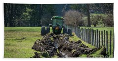 Stuck In The Muck Agriculture Art By Kaylyn Franks Hand Towel