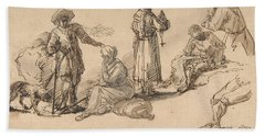 Studies For Standing And Seated Figures Bath Towel