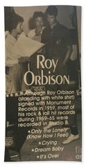 Studio B Roy Orbison  Hand Towel