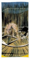 Study For Crouching Nude Hand Towel