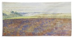 Study Of A Landscape With A Ploughed Field Hand Towel