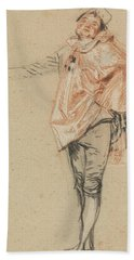 Study Of A Standing Dancer With An Outstretched Arm Hand Towel