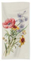 Study Of Wild Flowers Hand Towel