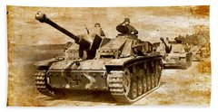 Bath Towel featuring the digital art Stug IIi Ausf G Tank Destroyer by John Wills