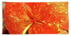 Stunning Canna Lily Hand Towel