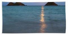 Stunning Hawaii Moonrise Hand Towel
