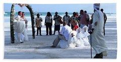 Stunning Kenya Beach Wedding Bath Towel