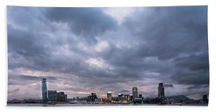 Stunning Sunset Over Kowloon In Hong Kong Hand Towel