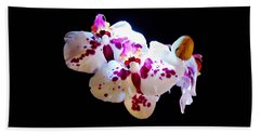 Stunning Twin Orchids Bath Towel
