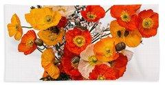 Stunning Vibrant Yellow Orange Poppies  Hand Towel